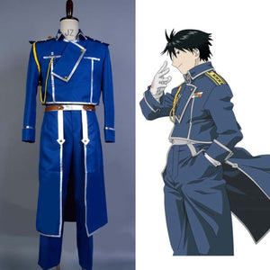 FullMetal Alchemist Cosplay Roy Mustang Costume Uniform Outfits