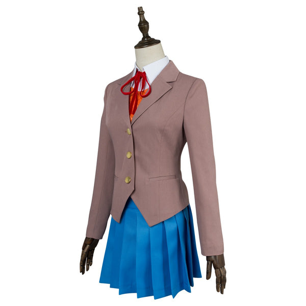 Galgame Doki Doki Literature Club DDLC Sayori Natsuki Yuri Monika Costume School Uniform