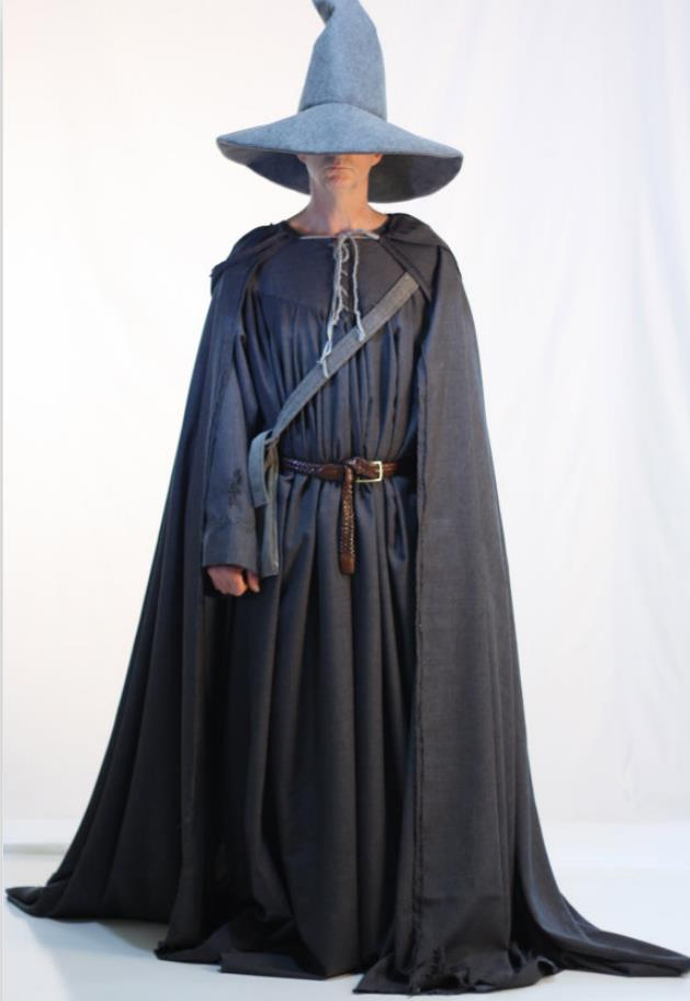 Gandalf the grey costume for female male hallowen costume