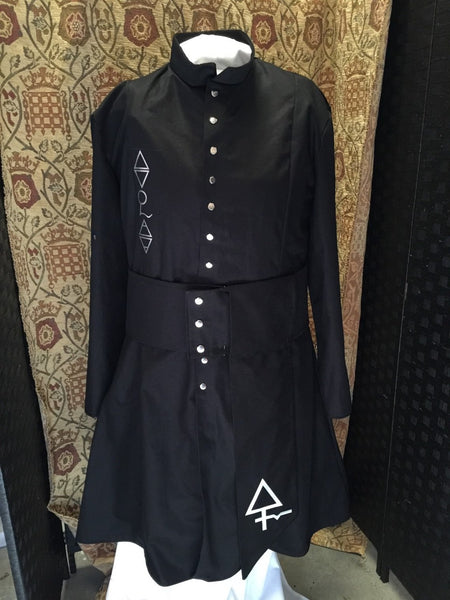 Ghost coat with sash black for Adult Mens