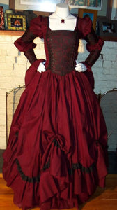 Gothic Renaissance Pirate Gown Dress Vampire Costume