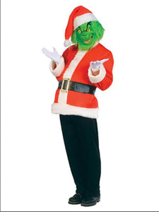 Grinch costume Jim Carrey Christmas Cosplay Costume