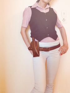 Helena Harper Cosplay Costume Shirt Vest,Belt and Cosplay Gun Holster