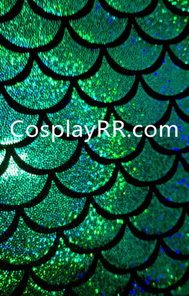 High Waist Fish Scale Mermaid Costume Tail Skirt Halloween Costume