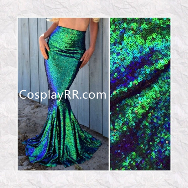 High waist green sequin mermaid tail skirt Mermaid Costume