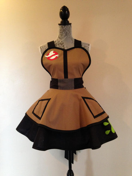 Inspired by Ghost Busters Cosplay Apron Retro Apron Costume