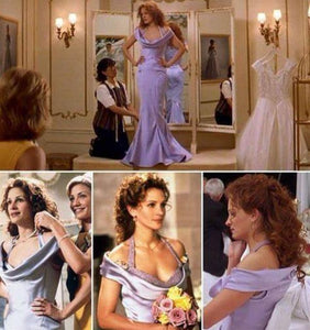 Julia Roberts as Julianne Potter Lavender Mermaid Bridesmaid Dress Stunning Gown in My Best Friend's Wedding