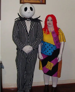 Jack Skellington Costume A Style without Mask and Sally Costume B style