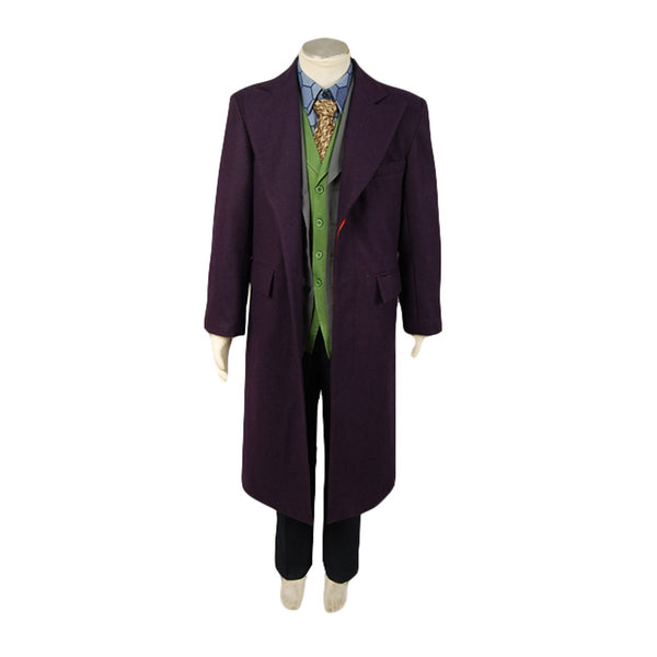 Joker Costume Purple Wool Trench Coat for cheap