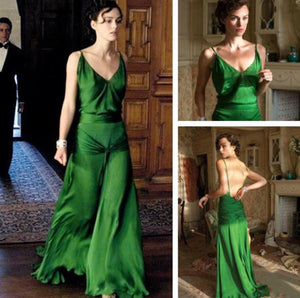 Keira Knightley Green Dress as Cecelia Tallis Evening Dress from Atonement