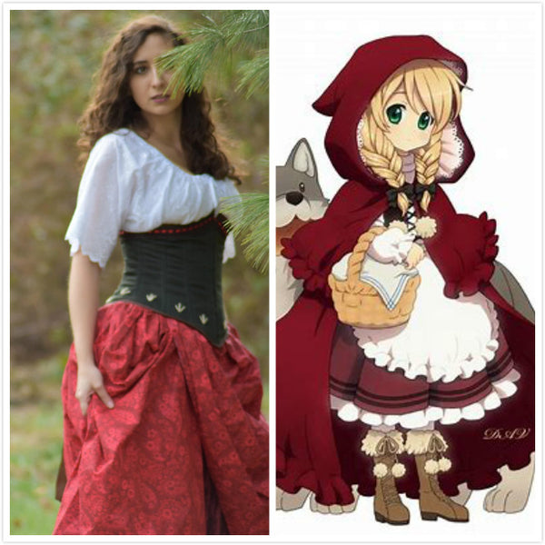 Little Red Ridding Hood Costume Once Upon A Time Cosplay
