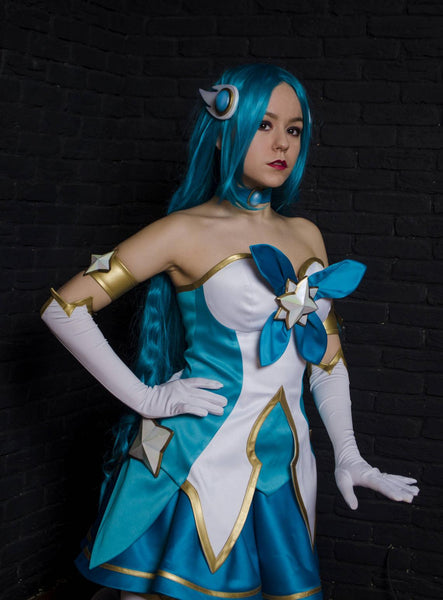 LoL Star Guardian Soraka Costume League of Legends Soraka Halloween Costume Outfit