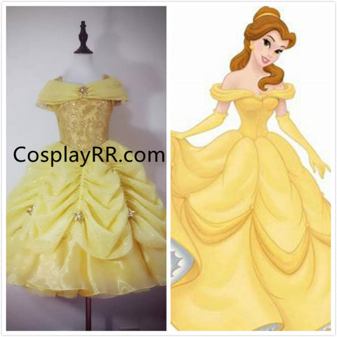 Luxury Beauty and Beast Belle dress for girl and toddler