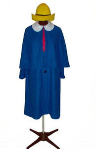 Madeline costume UK US with yellow madeline hat for adult