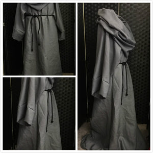 Maester robe Game of Thrones Grey Linen cosplay costume