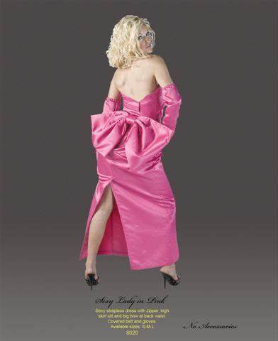 Marilyn Monroe Pink Dress Costume Halloween Gown Costume for Women