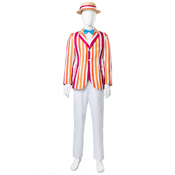 Mary Poppins Bert Dick Van Dyke Hat Suit Costume for Adults