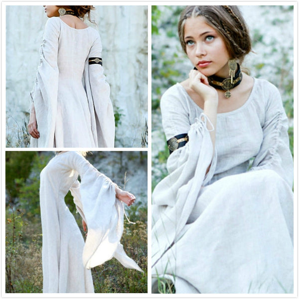 Medieval Renaissance Dress Linen Chemise Archeress Costume