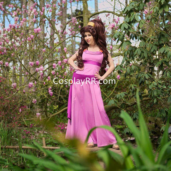 Megara dress cosplay costume plus size