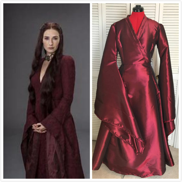 Melisandre Costume UK Cosplay Dress Red medieval dress