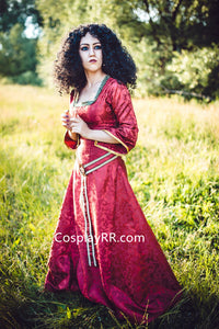 Mother Gothel costume cosplay dress for adult plus size