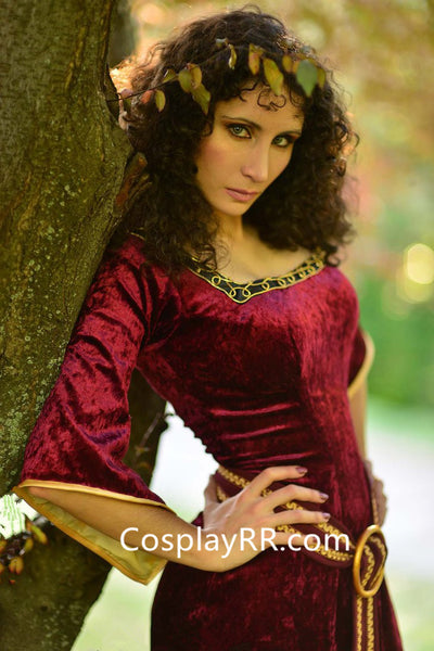 Mother Gothel costume cosplay dress with cape adults