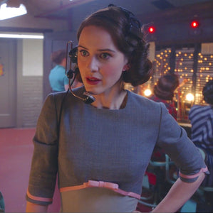 Mrs Maisel Costume Grey Pencil dress