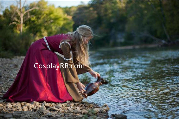 Narnian Susan Dark Red Coronation Dress Adult Costume