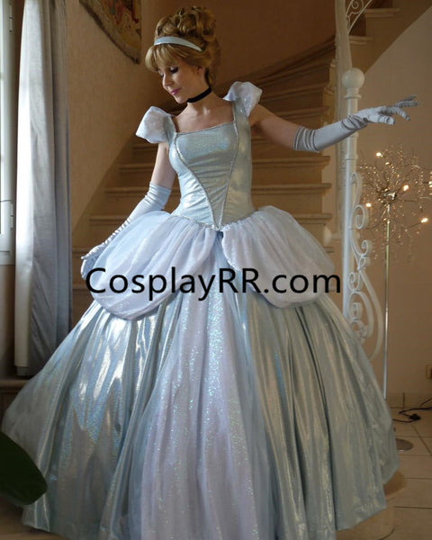 New Cinderella light blue dress for adult plus size