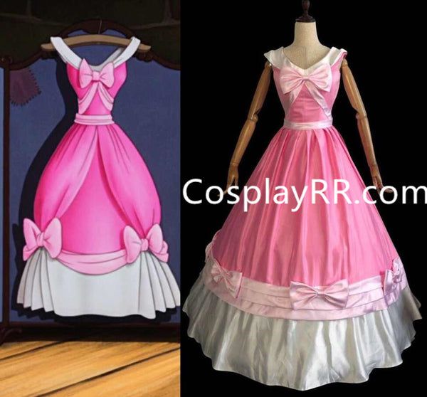 New Cinderella pink dress cartoon style for adults plus size
