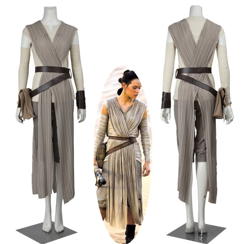 New Star Wars The Force Awakens Rey Cosplay Costume Plus Size