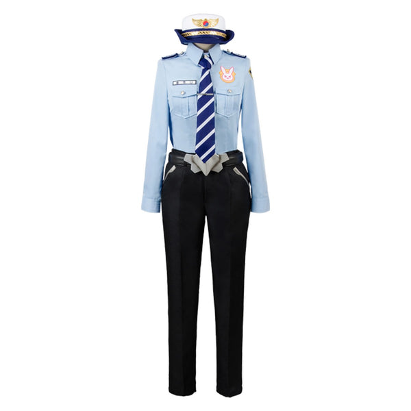 Overwatch DVA Hana Song Police Officer Uniform Cosplay Costume