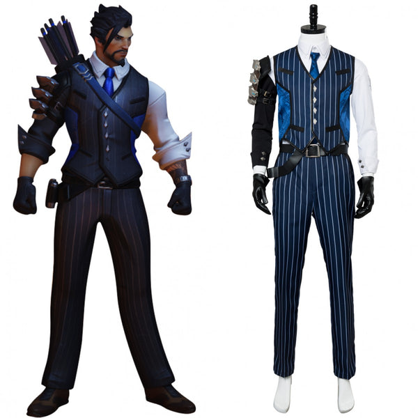 Overwatch Shimada Hanzo Scion Hanzo Skin Costume Outfit Suit