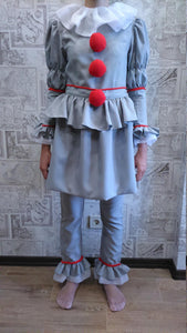 Pennywise Costume Pennywise Clown Cosplay Helloween Costume