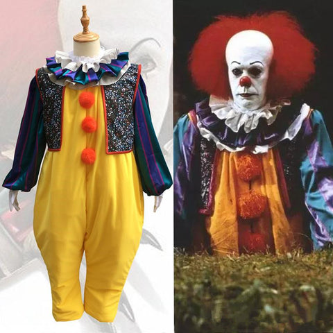 Pennywise costume Stephen king's it cosplay costume for male female