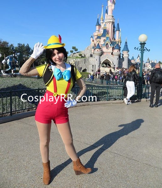 Pinocchio costume cosplay outfit for boy adult