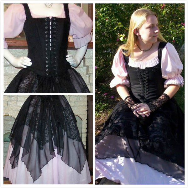 Pirate Gown Renaissance Costume Womens Wench Costume