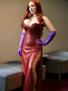 Plus Size Jessica Rabbit Dress - Jessica Rabbit Costume for Adults with Gloves