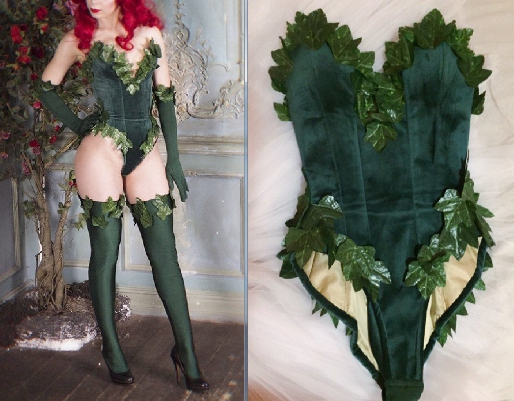 Poison Ivy Costume Poison Ivy Outfit for Adults Women Dr. Pamela Lillian Isley
