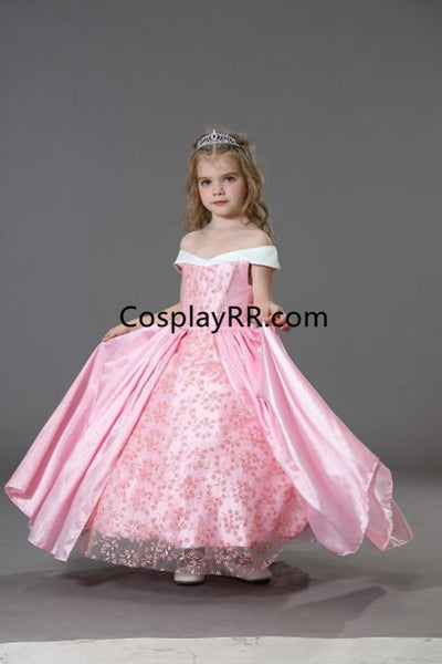 Princess Aurora dress cartoon pattern for girls kids toddler