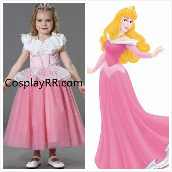 Princess Aurora dress pink costume girls toddler