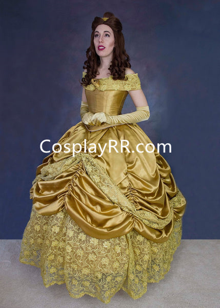 Princess Belle Dress Gold Costume