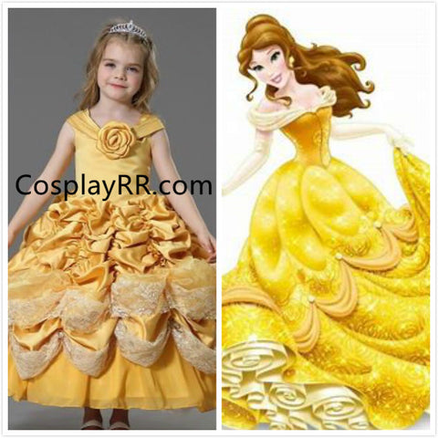 Princess Belle dress for girls kids