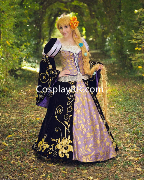 Princess Rapunzel dress doll version Rapunzel costume for adults