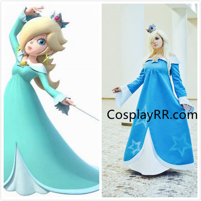 Princess Rosalina costume blue cosplay dress plus size