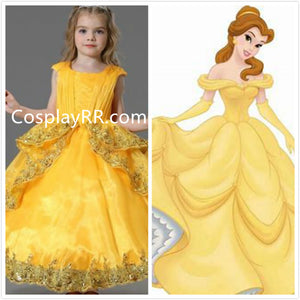 Princesss Belle dress 2017 movie for girls toddler