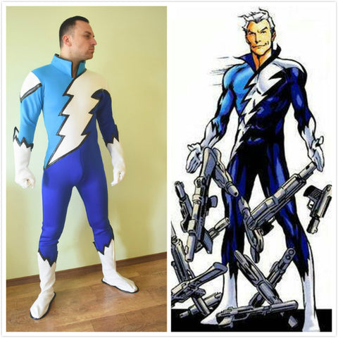 Quicksilver Cosplay Costume Bodysuit for men women plus size