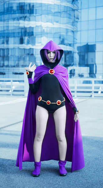 Raven from Teen Titans Go costume with cape for women