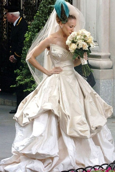 Sarah Jessica Parker as Carrie Bradshaw Wedding Dress Bridal Dress in Sex and the City