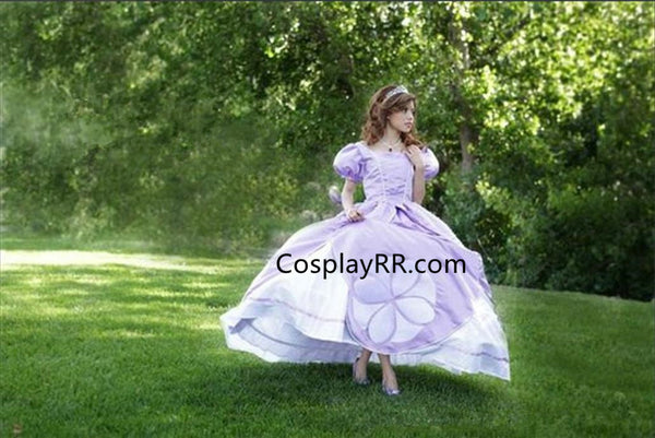 Princess Sofia the First Dress Ball Gown with Pearls